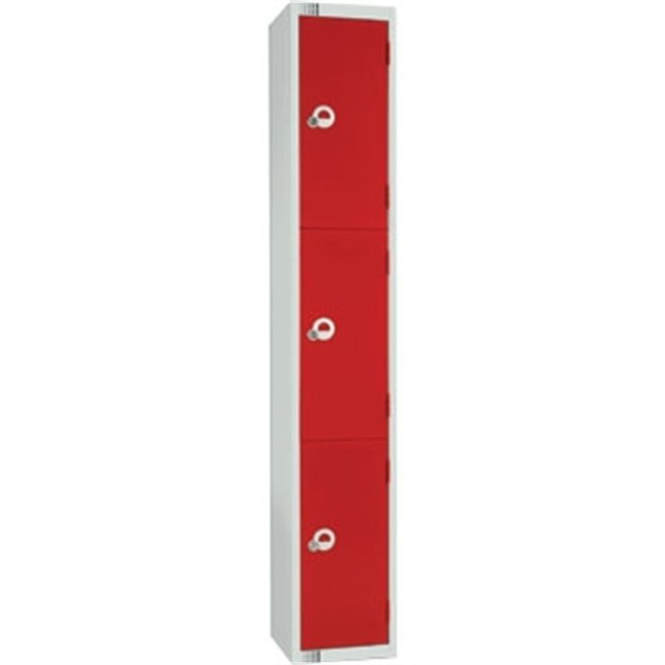 Three Door Locker with Sloping Top