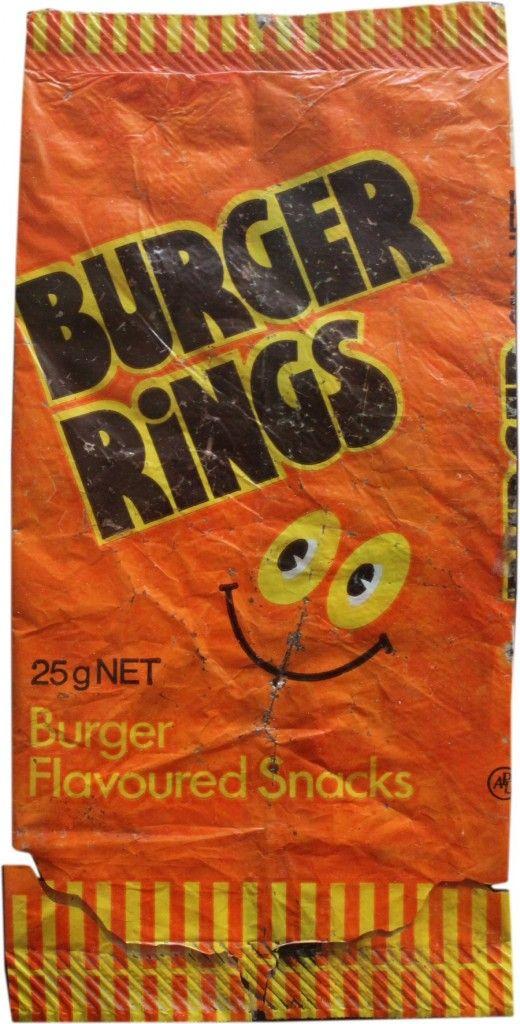 Burger Rings Vintage Old Pack