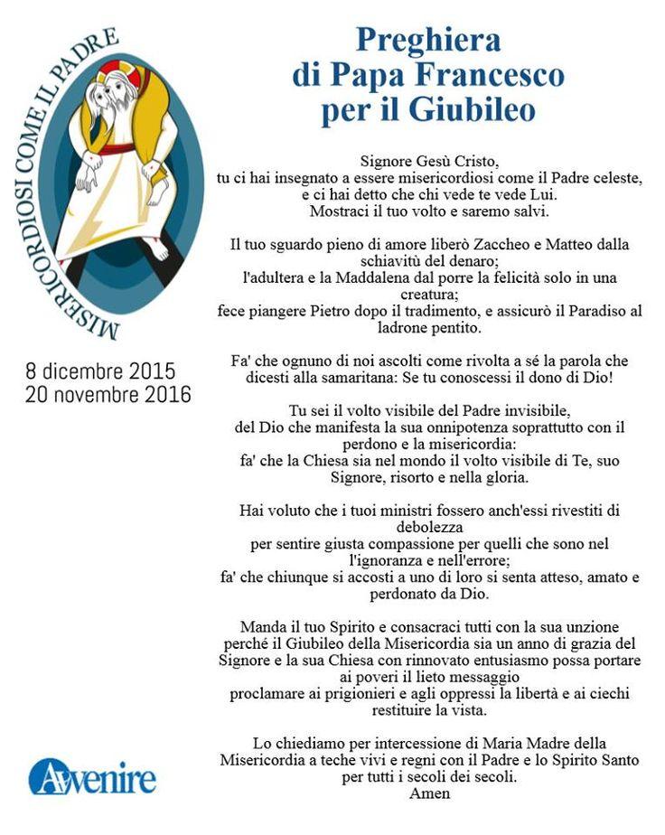 Giubileo, la preghiera di papa Francesco