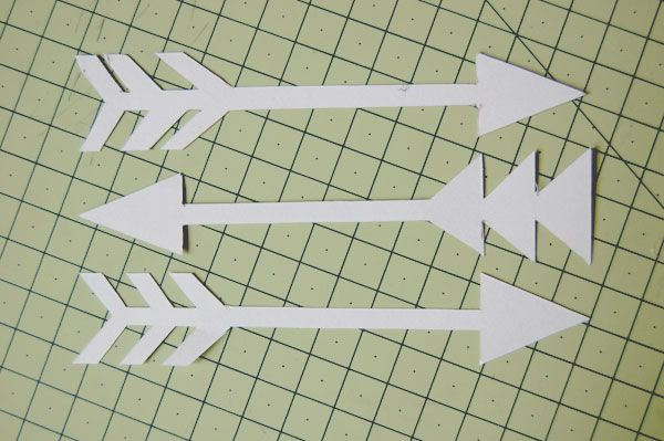 arrow pattern template craft DIY (could be good for C's lampshade)