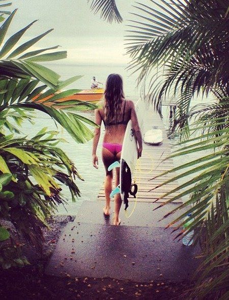 #surf#girl#tropical