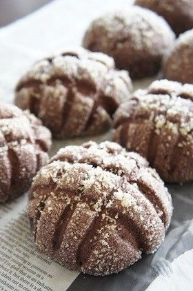 Chocolate melon pan (bread) チョコメロンパン