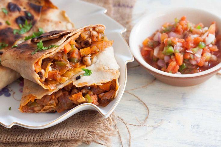 Mexican Style Vegetarian Chimichanga Recipe (Deep Fried Burrito Recipe)