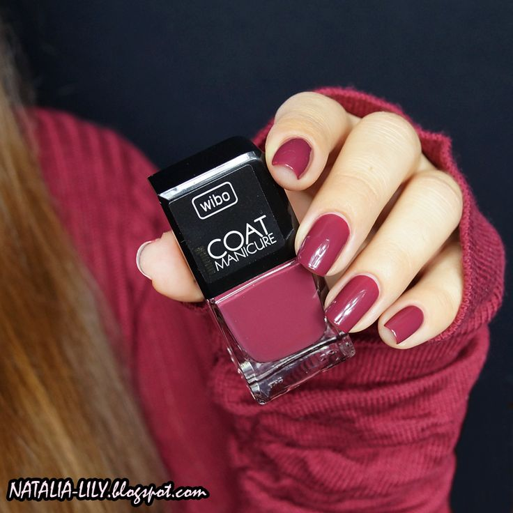 natalia-lily: Beauty Blog: WIBO 1 COAT MANICURE NR 14 | Przepiękne przygaszone bordo kryjące po 1 warstwie