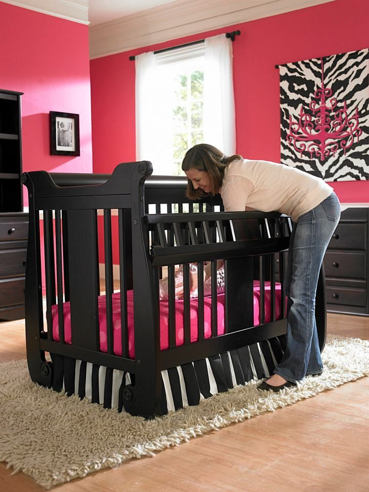 Generation Next Safety-Gate Crib makes it easier to reach your baby.    #GenerationNext #crib #baby #nursery #babysdream