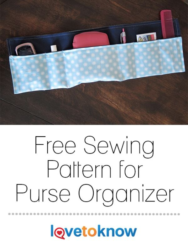 If your purse is full of small items and you often find yourself digging around for your lip balm or cell phone, sewing a purse organizer can be a great solution. This type of organizer, which is easy to make using a free pattern, helps you keep all of your necessities right at your fingertips. | Free Sewing Pattern for Purse Organizer from #LoveToKnow