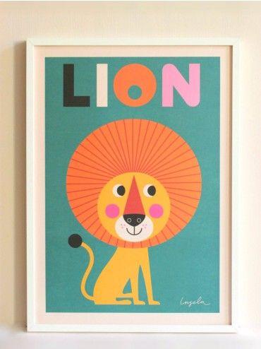 Lion Art Print, Ingela P Arrhenius