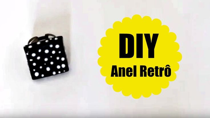 DIY - ANEL RETRO - BISCUIT - POLYMER CLAY - #VEDA31