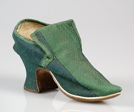 Shoes, probably British, 1700-1729, wool