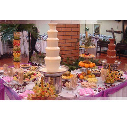 5 tiers Chocolate Fountain Machine for Wedding  http://www.chocolatefountainonline.com/chocolate-fountain-machine/