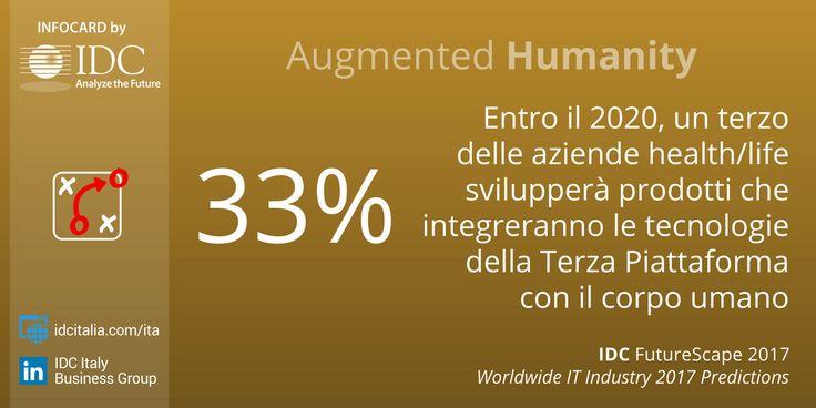 Verso l'Augmented Humanity: entro il 2020 i primi prodotti a integrare le tecnologie della #3rdPlatform con il corpo umano - #IDCFutureScape