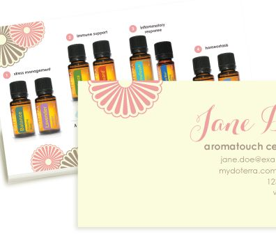 Striped and Sophisticated doterra business card