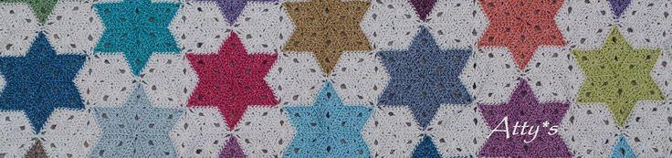 Een gratis Nederlands haakpatroon van een sterren deken. Je kan de sterren ook los haken! Lees snel verder over het haakpatroon!