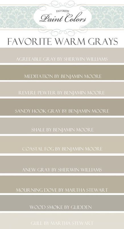 Top 10 Favorite Warm Gray Paint Colors (Favorite Paint Colors)