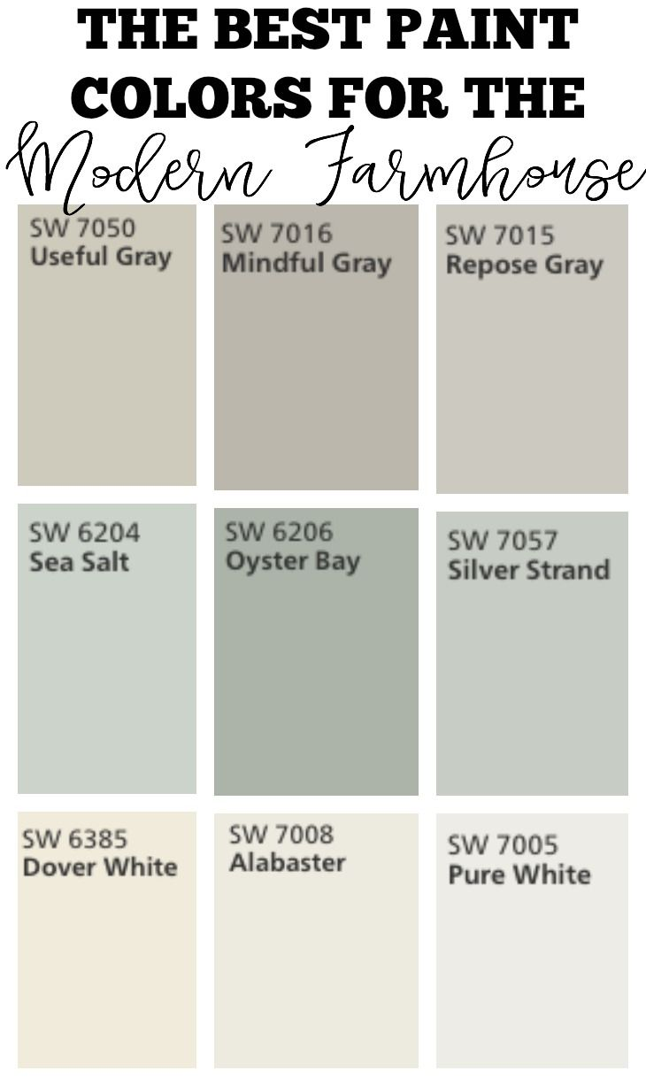 Transitioning to Farmhouse Style Shopping Guide. Best Paint ColorsPaint ...