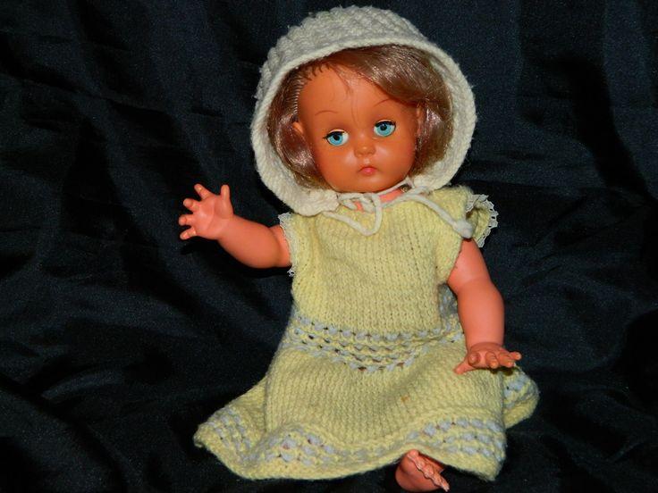 Коллекционная Винтажная Кукла Blossom Toys Made in England 1970 Голова и руки виниловые Туловище и ноги пластмассовые Глаза закрываются  Рост 35 Цена 300гр Производство Blossom Toys Made in England 1970 #doll #кукла #игрушки #toys #коллекция #фигурки #England #BlossomToys