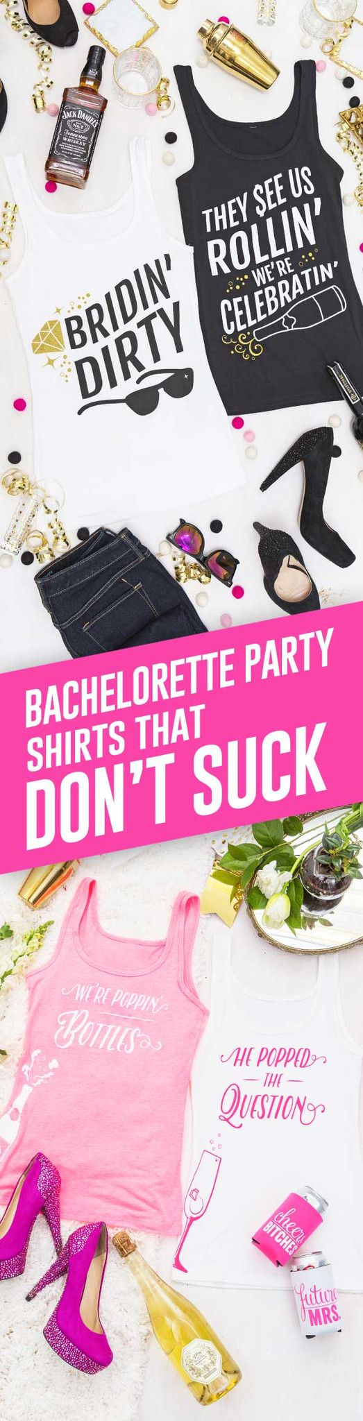 Oodles of funny bachelorette party styles designed by our team of lovable weirdos. <3 Guaranteed to help you make your party legendary or your money back!