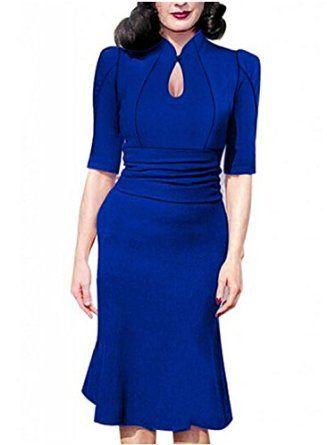Destinas Women's Vintage Style Retro 1940s Shirtwaist Flared Tea Dress | Amazon.com Agent Carter