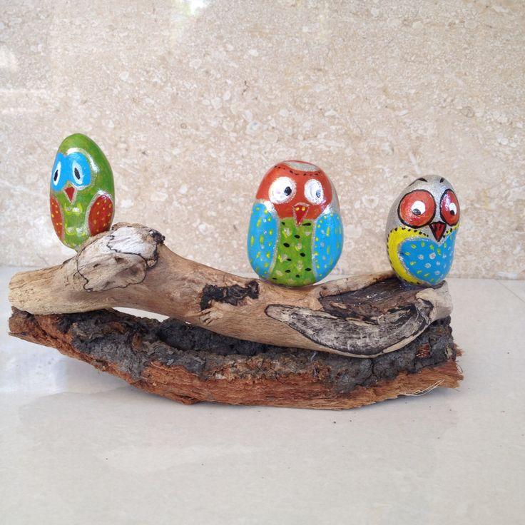 Owls#paintedrocks #paintedstones