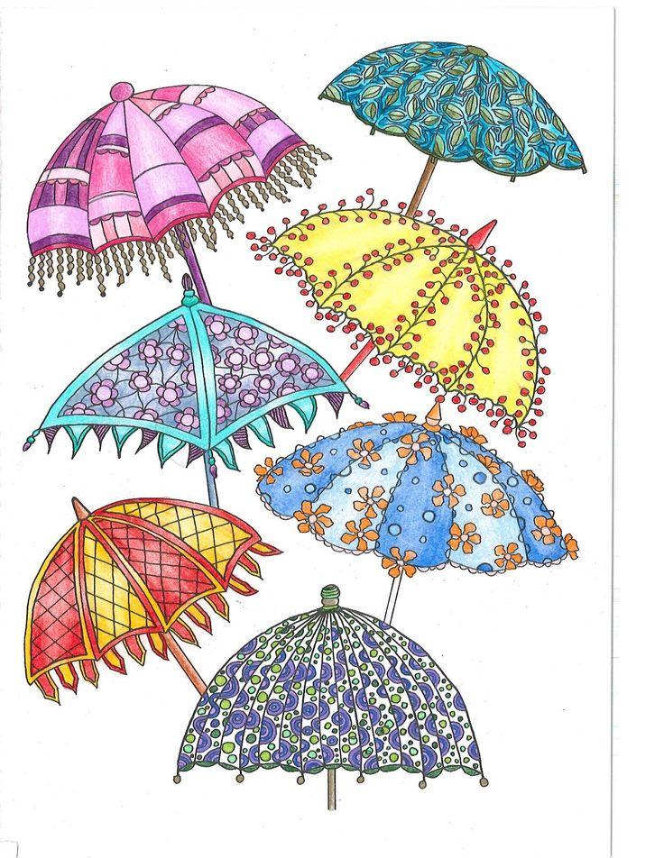 395 Best Umbrellas Illustrations Images On Pinterest