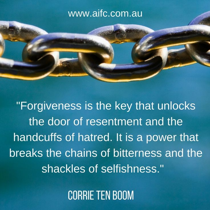 Forgiveness releases us to be free to love.