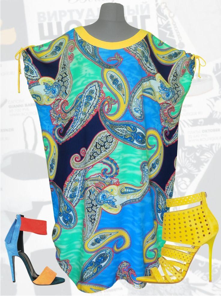 """32$ Летнее платье из штапеля свободного покроя для полных женщин """"Синие огурцы"""" фото с раздвинутыми рукавами Артикул 647, р50-64 Платья больших размеров  Платья свободного кроя больших размеров Платья в пол больших размеров  Летние платья больших размеров Платья макси больших размеров  Длинные платья больших размеров  Платья свободные больших размеров  Платья нарядные больших размеров  Дизайнерские платья больших размеров Красивые платья больших размеров  Модные платья больших размеров"""