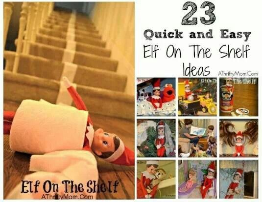 Cute elf on the shelf ideas