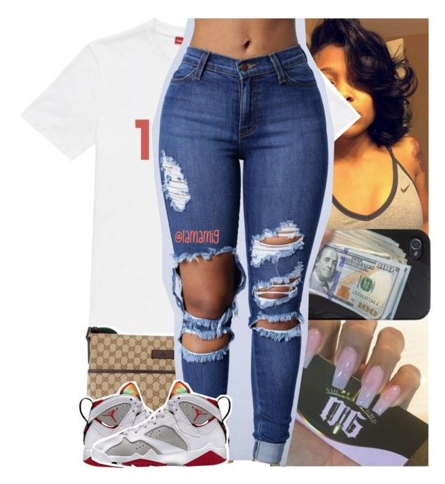 """""""with you x chris brown"""" by lamamig ❤ liked on Polyvore featuring Gosha Rubchinskiy and Gucci"""