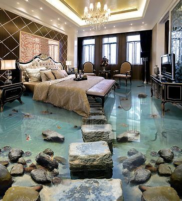 Details about 3D Square Stone River 73 Floor WallPaper Murals Wall Print Decal A…