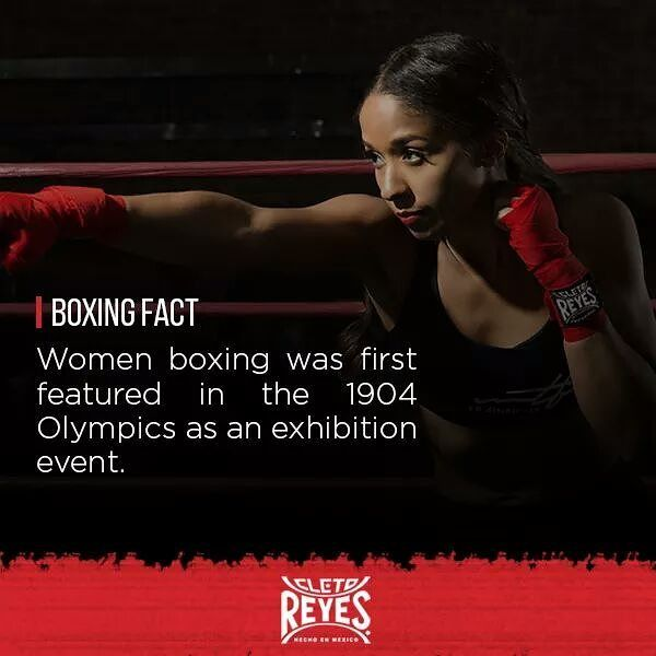 BOXING FACT: Women boxing was featured in 1904 on the Olympic games as an exhibition event. Did you know? 🤔👊 #boxing #fight #women #power #fitness #female #gym #news #box #trainhard