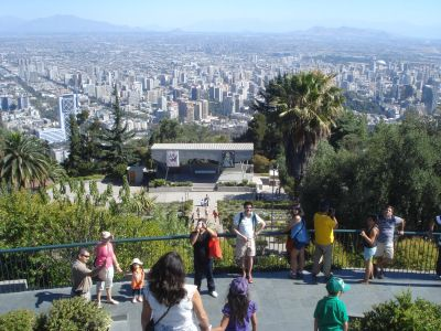 Cerro San Cristóbal - You must take a gondola to reach its peak but from there you'll get great panoramic views of Santiago and have the chance to see up close the large Virgin Mary statue that watches over the city.