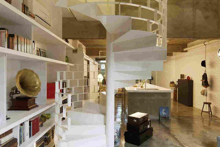 Кирпичный лофт в Сингапуре от студии Farm