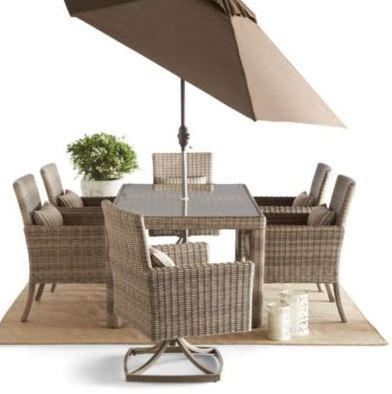 Lightweight and hand-woven patio chairs work well in almost any space!