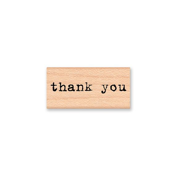 thank you  wood mounted rubber stamp by MountainsideCrafts on Etsy, $6.75