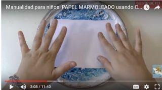 Escuela infantil castillo de Blanca: PAPEL MARMOLEADO