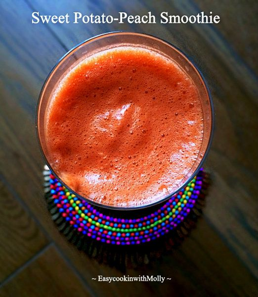 Sweet Potato-Peach Smoothie is healthy breakfast option. Easy to prepare and extremely delicious.