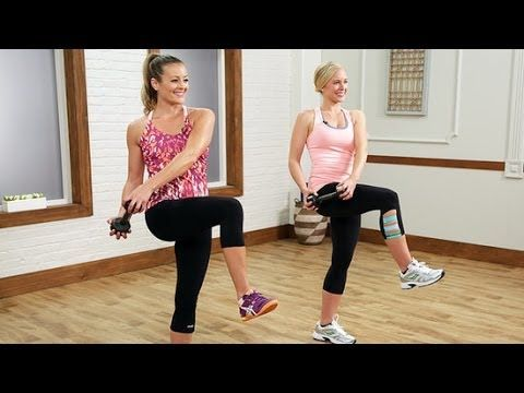 5-Minute Crop Top Workout | Class FitSugar - a great core + arms add-on to a 10 minute legs and butt workout.