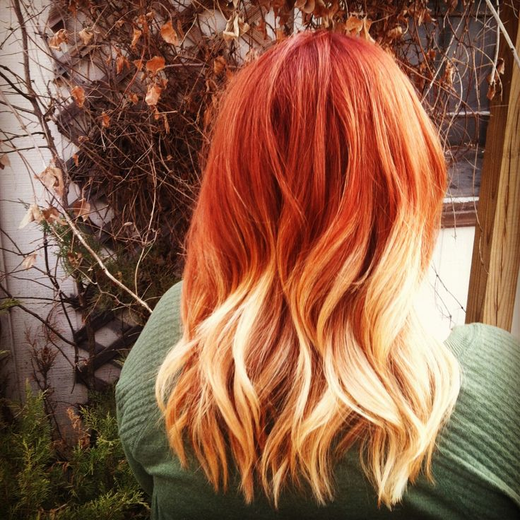 red to blonde ombr233 style me pretty pinterest