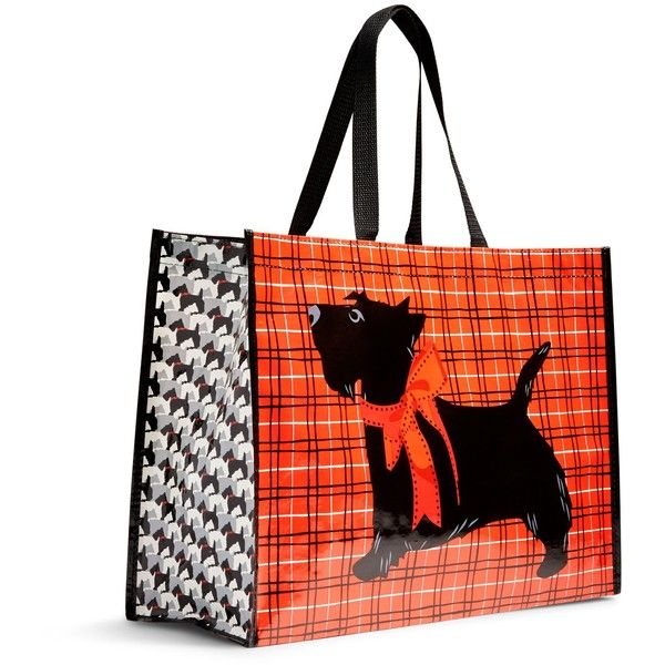 Vera Bradley Market Tote in Scottie Dogs ($8) ❤ liked on Polyvore featuring bags, handbags, tote bags, scottie dogs, dog purse, green purse, foldover tote, tote handbags and dog tote bag