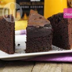 Zdjęcie do przepisu: Mega czekoladowe ciasto w 10 minut