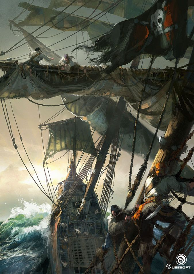 'Black Flag' ('Assassin's Creed-IV), concept art by William Wu, visual…