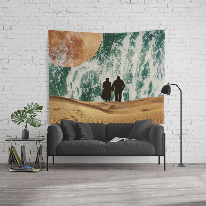 I LOVE YOU TO THE MOON AND BACK #society6 Wall Tapestry #homedecor #loveyourlife #love #truelove #goals #desert #moon #ocean #relations