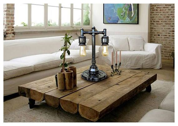 Rustic Table Lamps Industrial Lamp Nightstand Lamps Bedroom Edison Light  Lamp Retro Style Light Steampunk Lamp Lamp Industrial Design