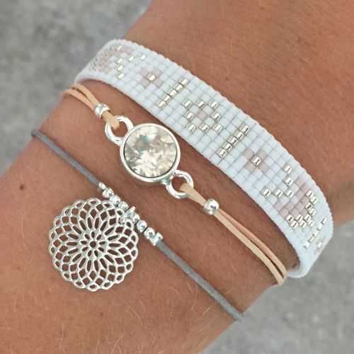 Beads-armbandje 'Ibiza Dreams' - Mint15 Love the gray, peach bracelet combination
