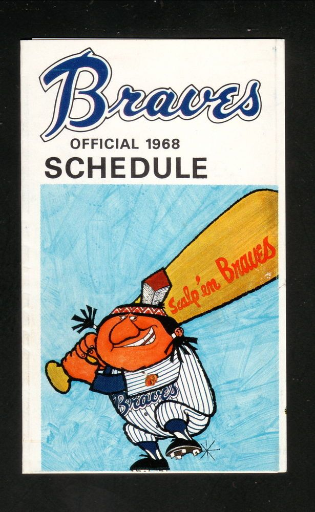 1968 Atlanta Braves Schedule #PocketSchedule