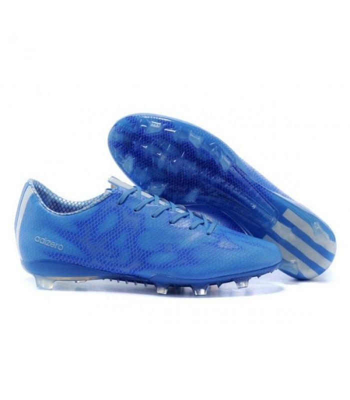 Acheter Adizero F50 Trx Fg Syn Messi - Chaussures Football Homme Adidas - Neuf Blanc Bleu pas cher en ligne 87,00€ sur http://cramponsdefootdiscount.com