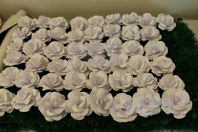 rose di carta matrimonio
