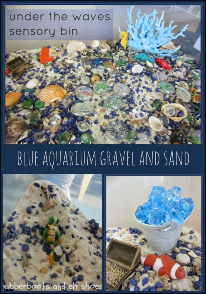 rubberboots and elf shoes: sensory bin filler: aquarium gravel