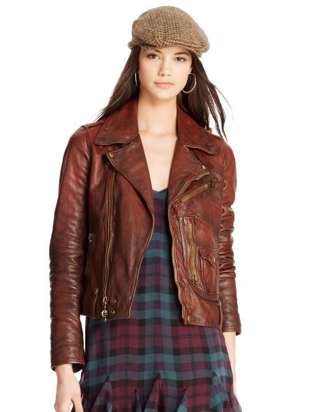 Distressed Leather Jacket - Polo Ralph Lauren Outerwear - RalphLauren.com