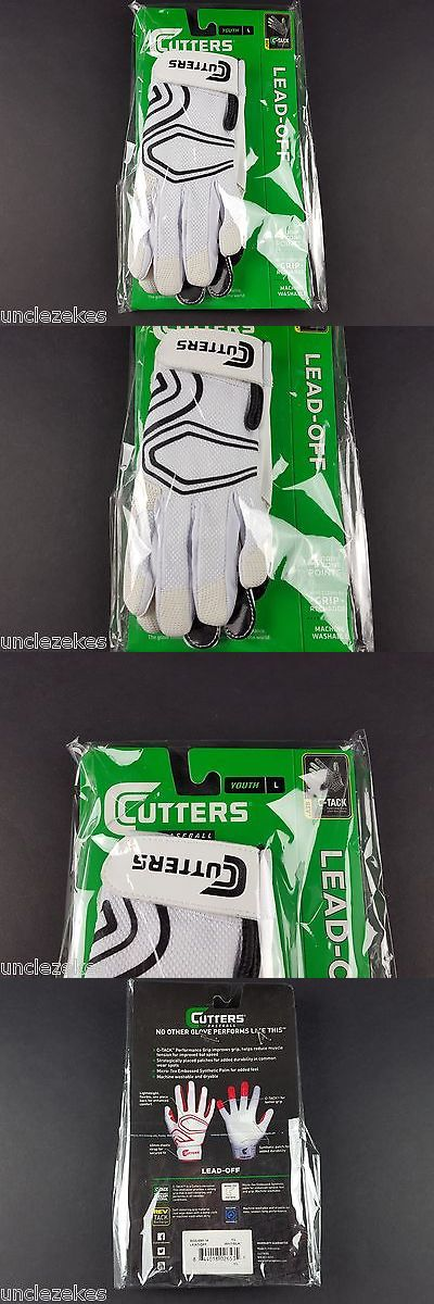 Youth 181354: Cutters Gloves Lead Off White Youth L Baseball Baseball Batting Gloves BUY IT NOW ONLY: $34.95